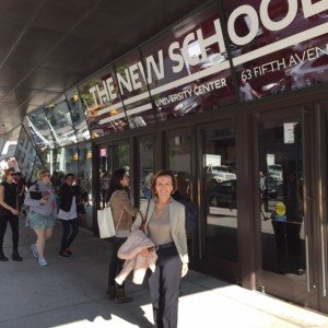 Elsa Fornero in visita alla New School for Social Research
