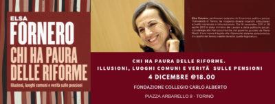 """Presentazione del libro di Elsa Fornero """"Chi ha paura delle riforme"""""""