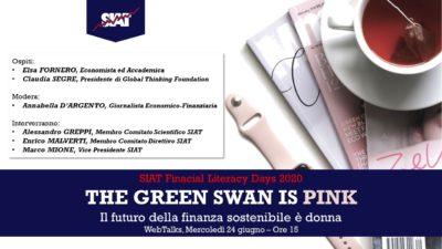 "WebTalk: ""The Green Swan is Pink - Il Futuro della finanza sostenibile è donna"""