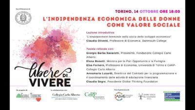 """Incontro online: """"L'indipendenza economica delle donne come valore sociale"""""""